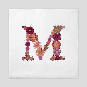 M Pink Flowers Queen Duvet