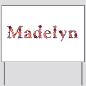 Madelyn Pink Flowers Yard Sign