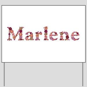 Marlene Pink Flowers Yard Sign