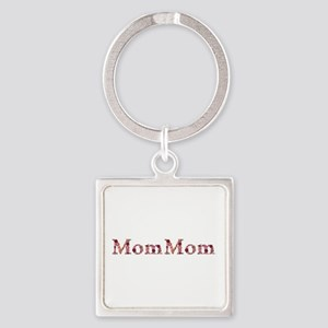 Mommom Pink Flowers Square Keychain