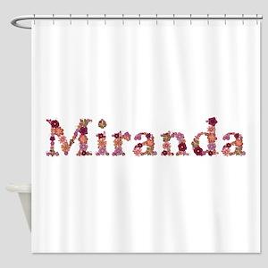 Miranda Pink Flowers Shower Curtain