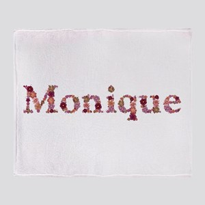 Monique Pink Flowers Throw Blanket