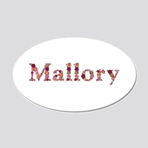 Mallory Pink Flowers 20x12 Oval Wall Decal