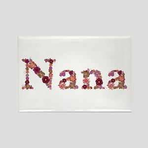 Nana Pink Flowers Rectangle Magnet