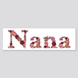 Nana Pink Flowers Bumper Sticker