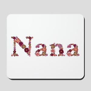 Nana Pink Flowers Mousepad