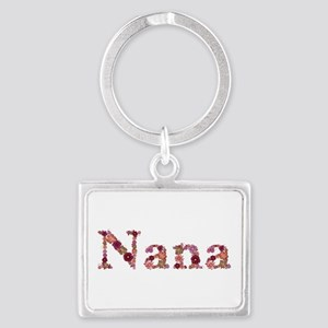 Nana Pink Flowers Landscape Keychain