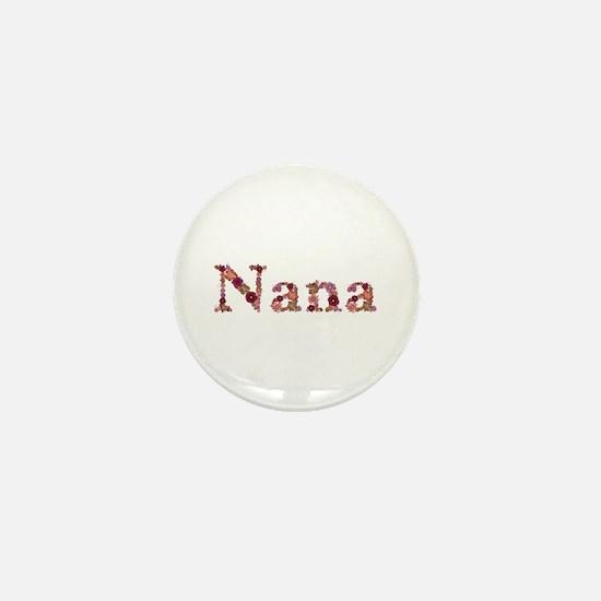 Nana Pink Flowers Mini Button