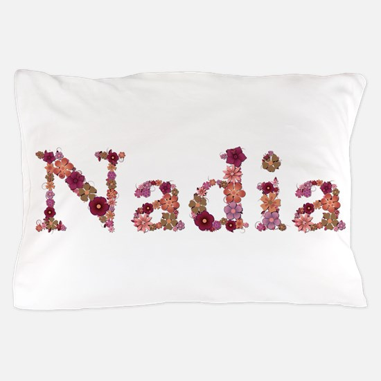 Nadia Pink Flowers Pillow Case