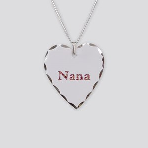 Nana Pink Flowers Heart Necklace