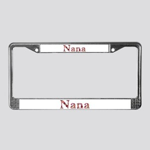 Nana Pink Flowers License Plate Frame