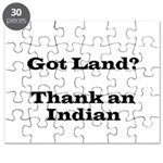 Got Land? Thank and Indian Puzzle