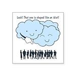 Cloud Mocks Human Shapes Funny Cartoon Square Stic