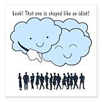 Cloud Mocks Human Shapes Funny Cartoon Square Car