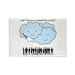 Cloud Mocks Human Shapes Funny Cartoon Rectangle M