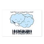 Cloud Mocks Human Shapes Funny Cartoon Postcards (