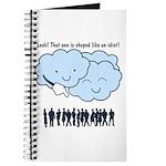 Cloud Mocks Human Shapes Funny Cartoon Journal