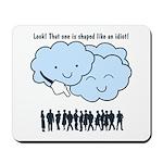 Cloud Mocks Human Shapes Funny Cartoon Mousepad
