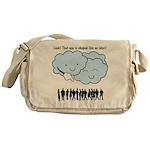 Cloud Mocks Human Shapes Funny Cartoon Messenger B