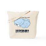 Cloud Mocks Human Shapes Funny Cartoon Tote Bag