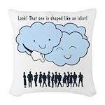 Cloud Mocks Human Shapes Funny Cartoon Woven Throw
