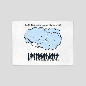 Cloud Mocks Human Shapes Funny Cartoon 5'x7'Area R