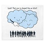 Cloud Mocks Human Shapes Funny Cartoon King Duvet