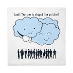 Cloud Mocks Human Shapes Funny Cartoon Queen Duvet