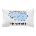 Cloud Mocks Human Shapes Funny Cartoon Pillow Case