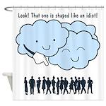 Cloud Mocks Human Shapes Funny Cartoon Shower Curt