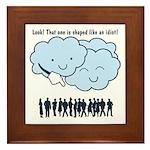 Cloud Mocks Human Shapes Funny Cartoon Framed Tile