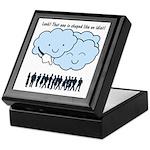 Cloud Mocks Human Shapes Funny Cartoon Keepsake Bo