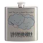 Cloud Mocks Human Shapes Funny Cartoon Flask
