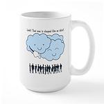 Cloud Mocks Human Shapes Funny Cartoon Large Mug