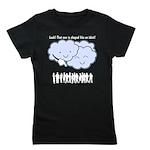 Cloud Mocks Human Shapes Funny Cartoon Girl's Tee