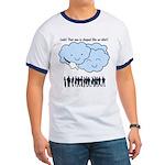 Cloud Mocks Human Shapes Funny Cartoon Ringer T