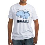 Cloud Mocks Human Shapes Funny Cartoon Fitted T-Sh