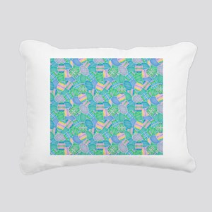 Colorful Eggs Rectangular Canvas Pillow
