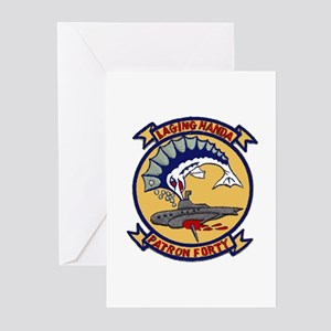 VP 40 Fighting Marlins Greeting Cards (Pk of 10)
