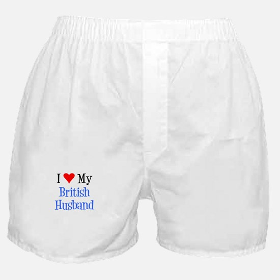 Love My British Husband Boxer Shorts