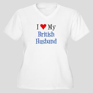 Love My British Husband Plus Size T-Shirt