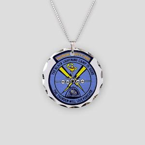 VP 31 Black Lightnings alter Necklace Circle Charm
