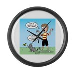 Timmy's Walk Large Wall Clock