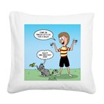 Timmy's Walk Square Canvas Pillow