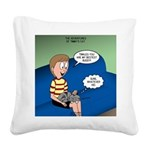 Timmys Bestest Buddy Square Canvas Pillow