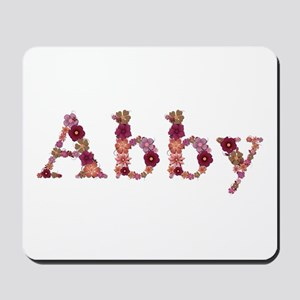 Abby Pink Flowers Mousepad