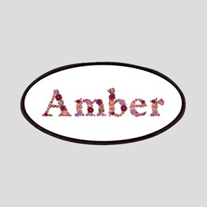 Amber Pink Flowers Patch