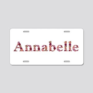 Annabelle Pink Flowers Aluminum License Plate