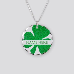Custom Name Shamrock Necklace