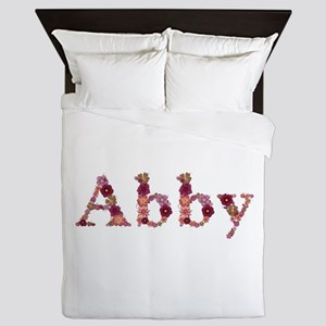 Abby Pink Flowers Queen Duvet